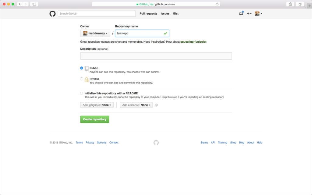 Create a repository
